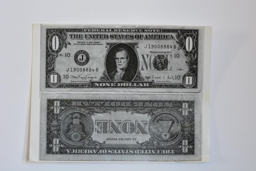 1992 RNC Houston Protest Zero Dollar Bill