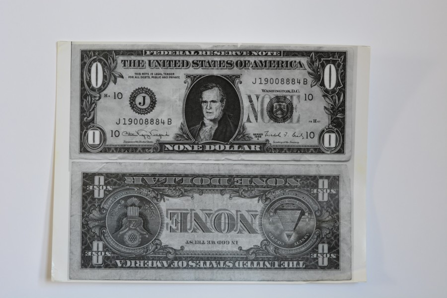 1992 RNC Houston Protest Zero Dollar Bill